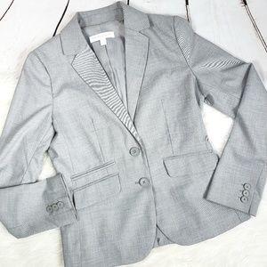 New york & company basic silver work blazer